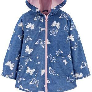 Carter's Girl's Butterfly Raincoat